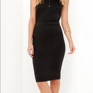 Anything For You Backless Black Dress